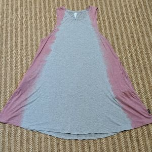 RVCA Tie Dye Sucker Punched Dress Pink Grey Small